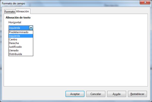 Propiedades básicas de una tabla en LibreOffice Base 4